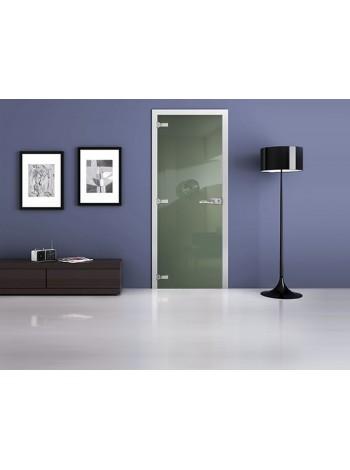 Межкомнатная стеклянная дверь Ral 6021