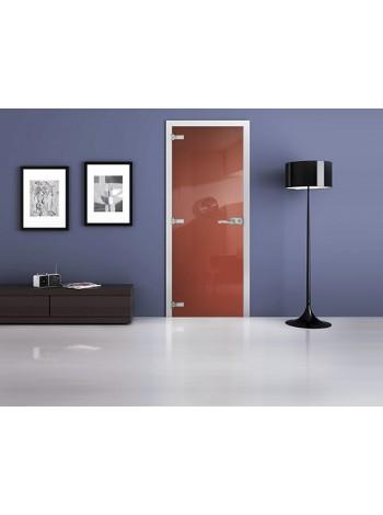 Межкомнатная стеклянная дверь Ral 3022