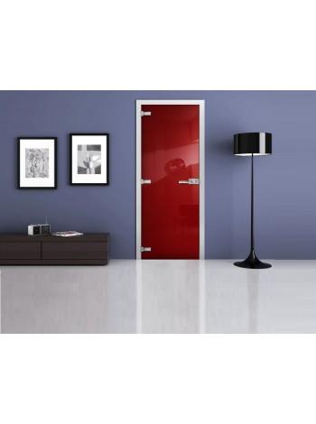 Межкомнатная стеклянная дверь Ral 3020