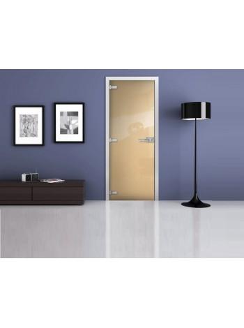 Межкомнатная стеклянная дверь Ral 1015