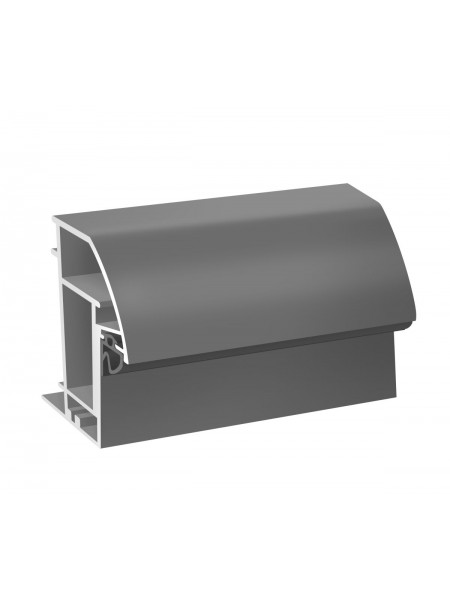Комплект R-образного короба (серебро)