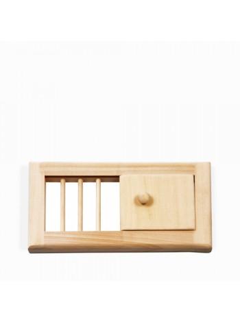 Вентиляционная решетка с задвижкой малая А-404
