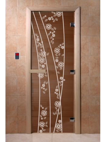 """Дверь """"Весна цветы бронза"""""""
