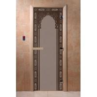 """Дверь """"Восточная арка черный жемчуг матовая"""""""